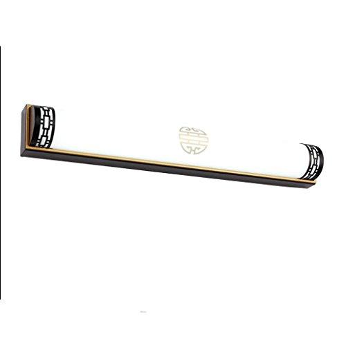 CWT Applique da specchio a LED cinese a forma di applique da bagno Specchio da bagno Specchio da notte a specchio Specchio for camera da letto vintage. Lampada da bagno (Color : Matte black/white)