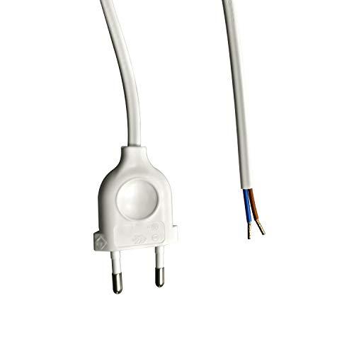 CCK Germany - 2 x alargadores de 150 cm, color blanco, enchufe europeo de 1,50 longitud pack doble.