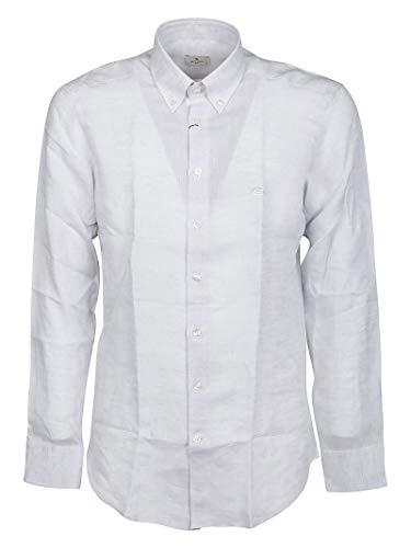 Etro Luxury Fashion Herren 1K96465010002 Grau Andere Materialien Hemd   Ss21
