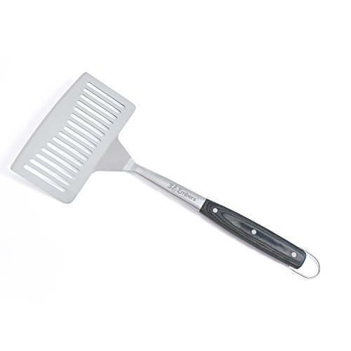 3 Embers Stainless Steel Large Spatula with Pakkawood Handle