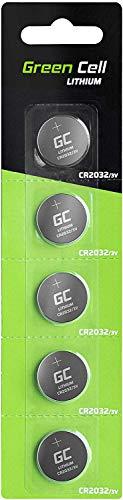 Green Cell 2032 - Pila de botón de Litio 3V, (CR 2032 / CR2032 / DL2032 / ECR2032/), diseñada para Dispositivos electrónicos, 5 Unidades