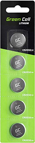 Green Cell CR2032 Lithium Knopfzellen 3V Lithiumbatterie Batterie in Original Blisterverpackung 5er Pack (Batterien einzeln entnehmbar)
