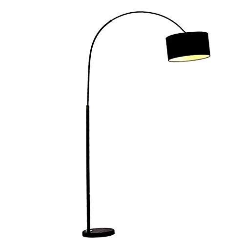 CHENJIA Lámpara de pie Lámpara de tela sombra, sombra tradicional lámpara de pie de bronce aceitado lino de la tela del tambor de la sala de lectura del dormitorio Oficina 180cm