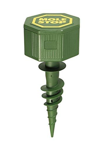 Windhager Wühlmausvertreiber MOLE Stop 1000, Wühlmausabwehr, Maulwurfvertreiber,Maulwurfabwehr, Wühlmausschreck, Wirkungsbereich ca. 1000m², 02120, Grün, Reichweite