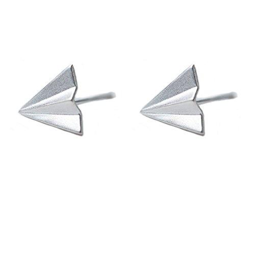 Helen de Lete Paper Airplane - Pendientes de plata de ley 925
