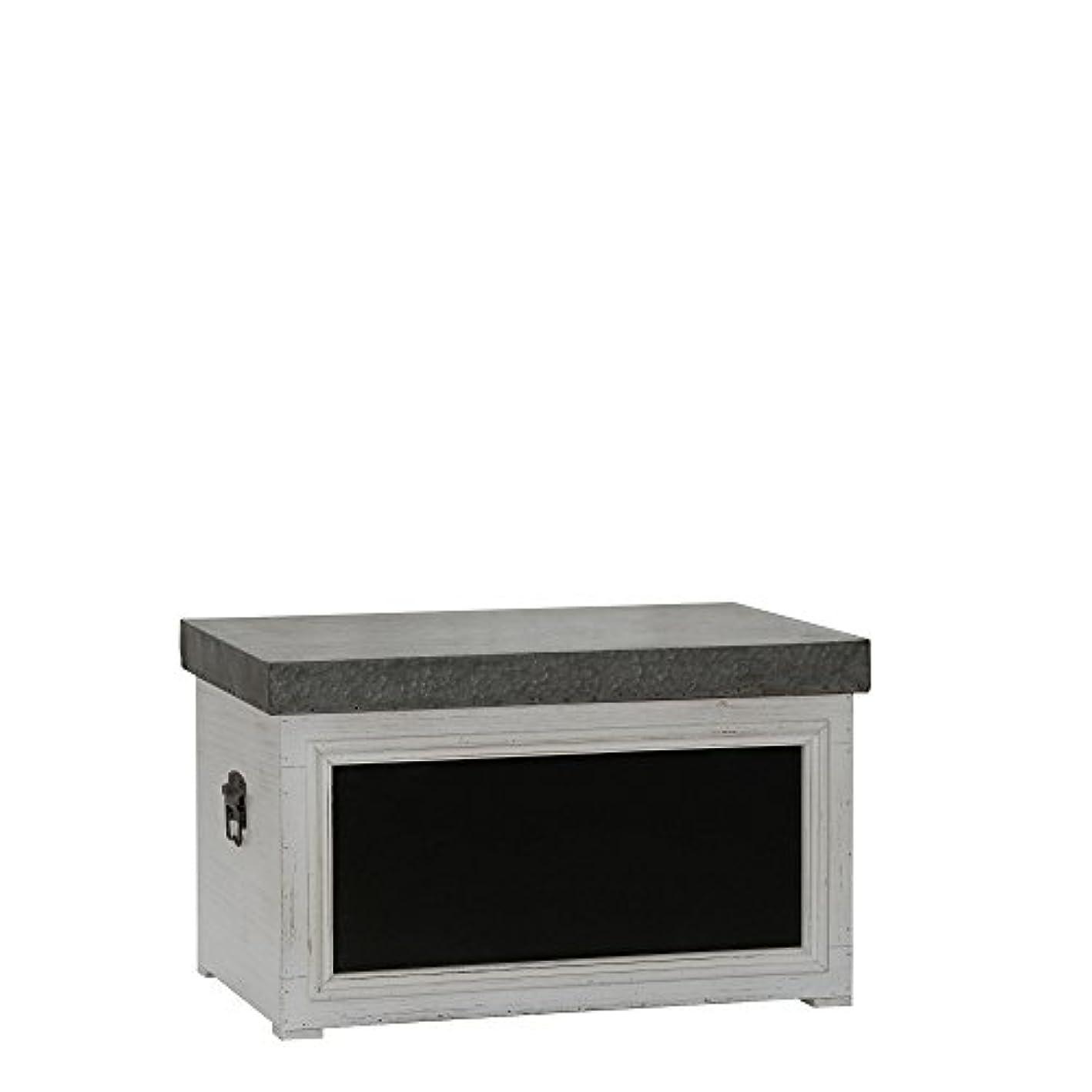 Household Essentials Chalk Board Storage Trunk Chest, Small, White