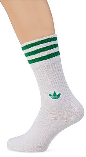 adidas Solid Crew 2Pp Calcetines, Unisex niños, Verde (vercen/Blanco/Verde), 31/34