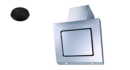 respekta Dunstabzugshaube Schräghaube kopffrei weiß 60 cm LED + Filter Umluftset_CH22020IXA+MIZ0031