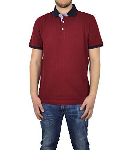 bugatti - Herren Poloshirt (Art. Nr.: 8150-35052), Größe:XXL, Farbe:Deep Red (970)