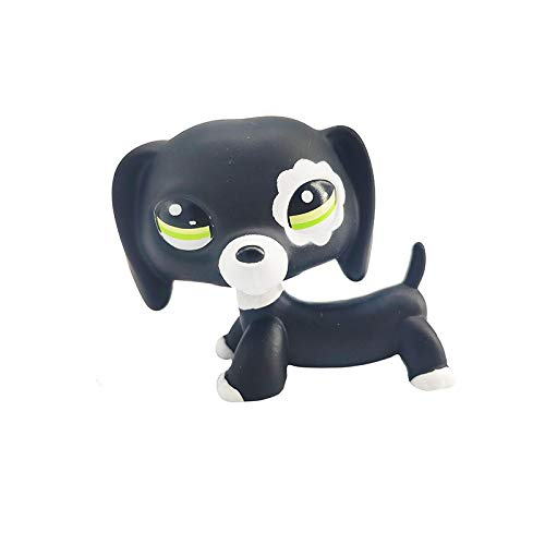GXYMF Lps Pet Shop Toy Cocker Spaniel Dog Black Short Hair Cat Collection Action Standing Role Playing Children's Gift 211