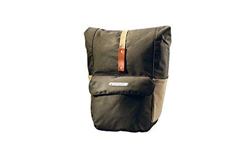 Brooks Suffolk Rear Travel Fahrradtasche mit Rolle Top, Unisex, Green/Honey