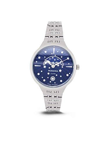Rodania–Mujer Reloj analógico de cuarzo pulsera de metal–414038
