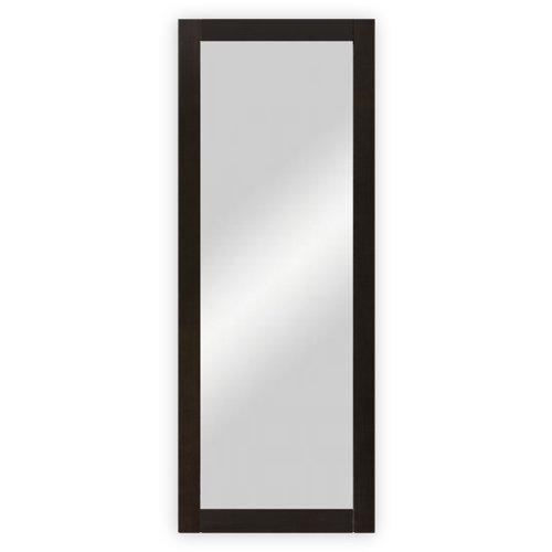 dreiBaum Wand- / Garderobenspiegel mit Holzrahmen, wengefarbig gebeizt - ca. 45 x 170 cm