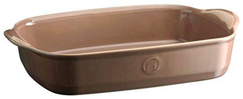 Emile Henry EH969652 - Bandeja de horno rectangular (cerámica, 36 x 23 x 7 cm), color marrón