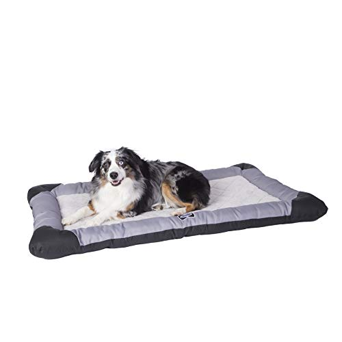 Sealy Quilted Memory Foam Heavy Duty Crate Pad Gray/Black, Large 28
