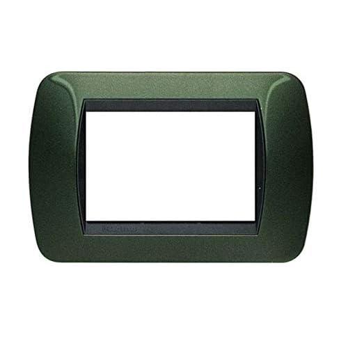 BTicino Living International L4803VT Placca, Verde Metallico