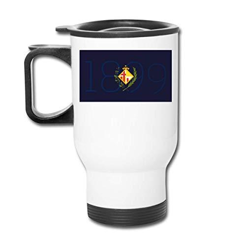 Termo de acero inoxidable con aislamiento al vacío 1899 Logotipo de Fc Barcelona Taza de viaje esmerilada de moda para bebidas calientes/frías, café o té