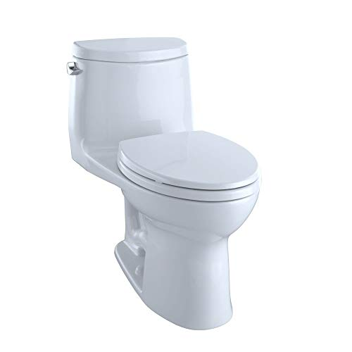 TOTO MS604114CEFG-01 Ultramax II Het Double Cyclone One Piece Toilet with Sanagloss, Cotton White -