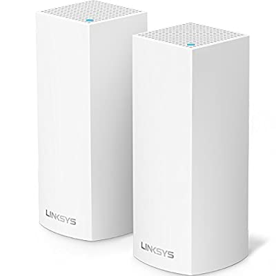 Linksys Velop Mesh Router (Tri-Band Home Mesh WiFi System for Whole-Home WiFi Mesh Network) 2-PackAmazonUs/ White