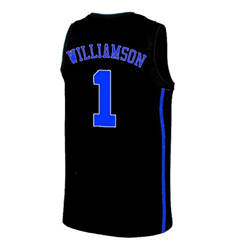 Mens Williamson Jersey Duke 1 Jerseys Adult Basketball University Zion Jersey Black(S-XXL) (L)