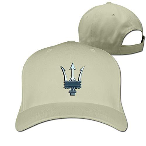 New Customized Maserati Logo Fashion 100% Organic Cotton Cricket Cap for Girls Casquette Black Sombreros y Gorras