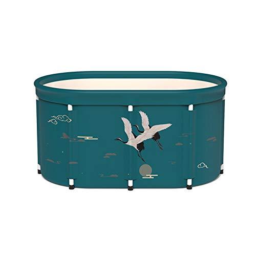 SYN-GUGAI Badewanne, Schwimmbad, Klappbadewanne Dämpfende Badewanne mit doppeltem Verwendungszweck für Erwachsene Badewanne für Kinder Kinderheim Badewanne Ganzkörperbadewanne rund bequem,100cm