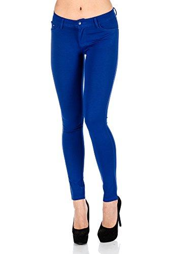 Freyday Modische Damen Jeggings Leggings Hüfthose Stretch Slimfit (S, Royalblau)