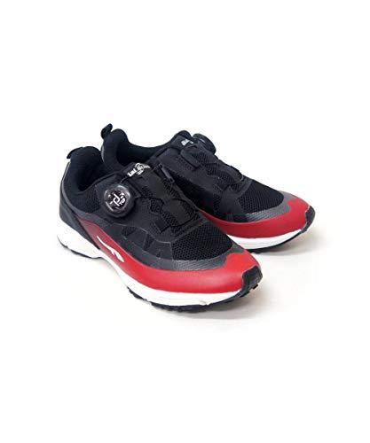 スニーカー 子供靴 運動会 ダイヤルドライブ 防水 レイン 男の子 女の子 ボーイ ガール ジュニア スニーカー 運動靴 プロテクト rio47128-09(レッド(30) 19.0cm)