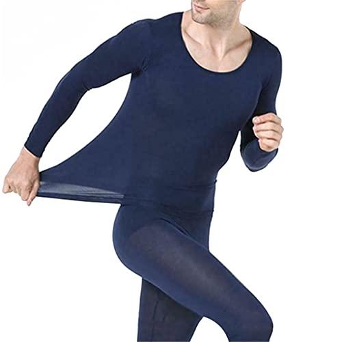 ZYKBB Hombres transparentes sin fisuras Thermas Thermas Inner Color Sólido Cálido Ropa interior delgada para el invierno (Color : B, Size : One size)