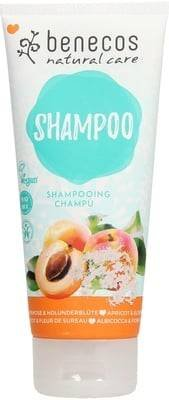 BENECOS Natural Shampoo Apricot & Elderflower - Deterge senza siliconi, con albicocca e fiori di sambuco, per tutti i tipi di capelli - Fruttato e delicato - Idratante - Vegan - 200 ml