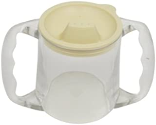 Becher Caring m. 2 Henkeln u. Deckel transparent, Ess- und Trinkhilfen