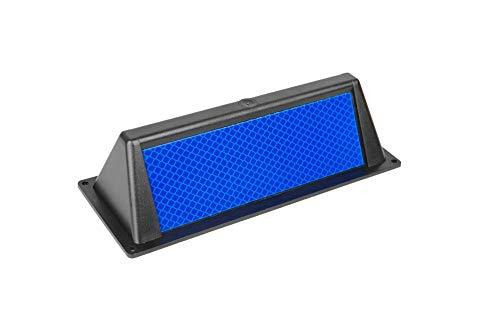 10x Wildwarner Wildwarnreflektor für Leitpfosten blau Wildschutz Wildunfälle Reflektoren