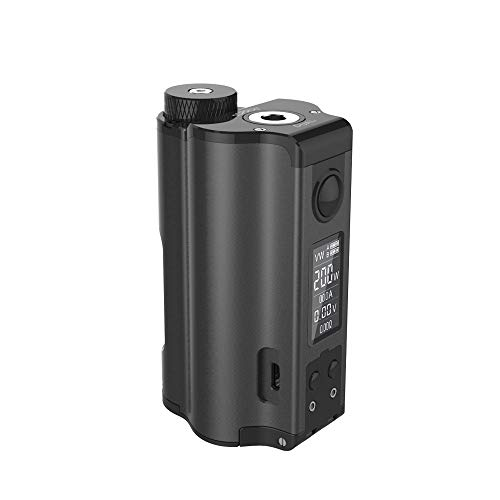 DOVPO Topside Dual 200W Top Füllen TC Squonk MOD mit 10ml Squonk Flasche E-cig vape Box Mod (Black)