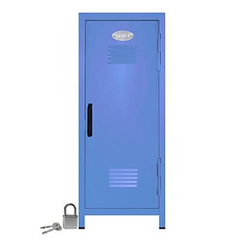 Mini Locker with Lock and Key Pastel Blue -10.75