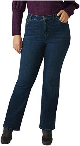 Dressbarn Women's Plus Westport Signature 5 Pocket Bootcut High Rise Jean with Hidden Tummy Solution (14W, Dark Wash)