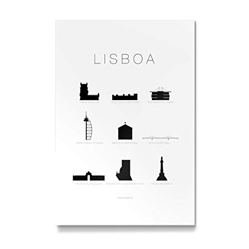 artboxONE Galerie-Print 90x60 cm Städte Lisbon hochwertiges Acrylglas auf Alu-Dibond Bild - Wandbild von SCHUMFF