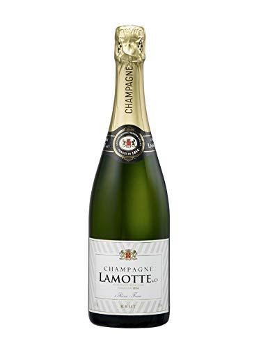 Champagne Brut Francés Lamotte & Cie - 1 Botella 750 ml - Champagne Brut Equilibrado con Burbujas Finas - Fabricado en Francia