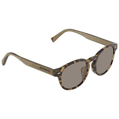 Ermenegildo Zegna Sonnenbrille EZ0029-F Occhiali da Sole, Grigio (Grau), 53.0 Uomo