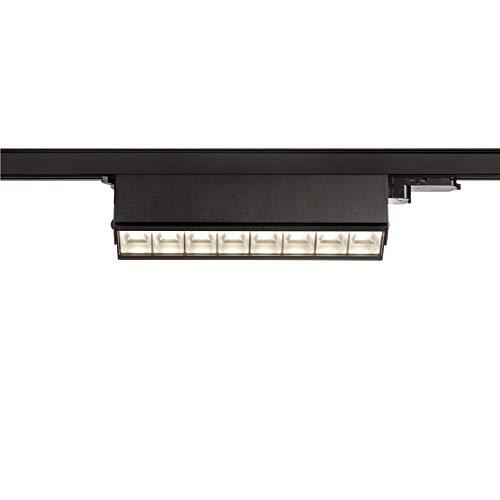 SLV SIGHT MOVE - Foco led de 3 fases (4000 K, 26 W, 3100 lm, 3 fases), color negro