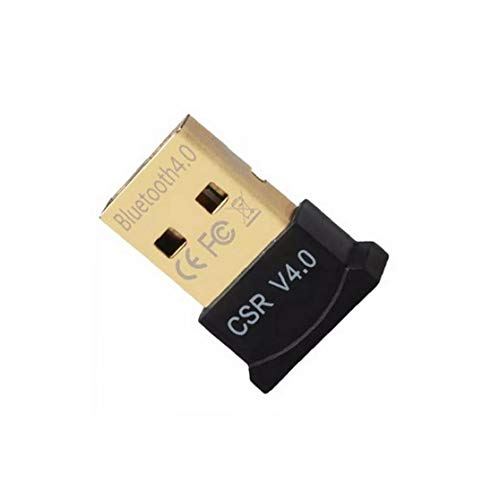 Hiinice Bluetooth 4.0 USB De Baja Energía Micro Dongle Adaptador para Pc con Windows 10/8,1/8/7 / Vista/XP, Frambuesa Pi, Linux Y Auriculares Estéreo Compatibles (Negro) Herramientas Convenientes