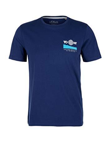 s.Oliver Herren 130.10.004.12.130.2024146 T-Shirt, 5670 Dark Ink Blue, M