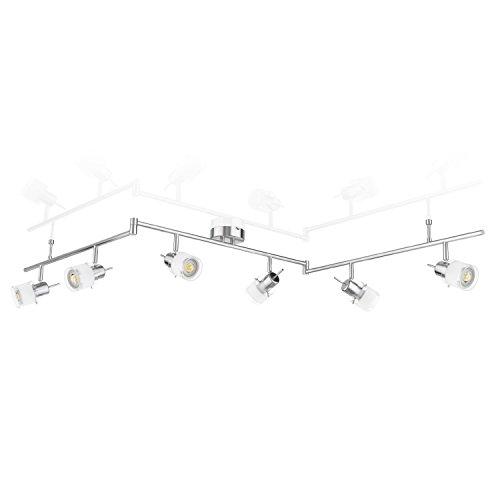 ledscom.de Deckenleuchte MIRAS, sechsflammig inkl. 450lm LED GU10 Lampen, warm-weiß