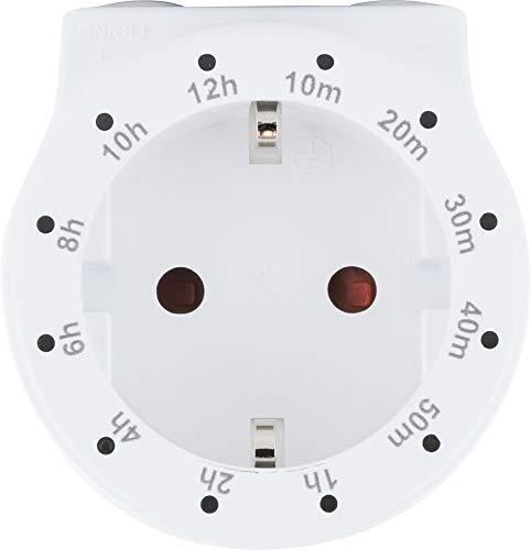 SCHWAIGER -661569- Mechanische Zeitschaltuhr Zwischensteckdose Timer 12 Zeiteinstellungen analog weiß Schaltuhr