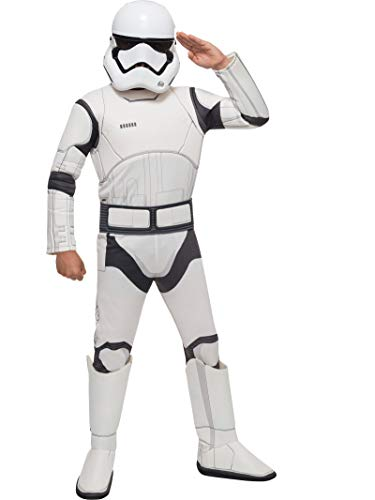 Star Wars VII: The Force Awakens Deluxe Child's Stormtrooper Costume and Mask, Medium