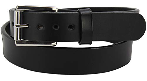 Max Thickness Work or Gun Belt for Concealed Carry Leather, 1.50 in, Black, 38'