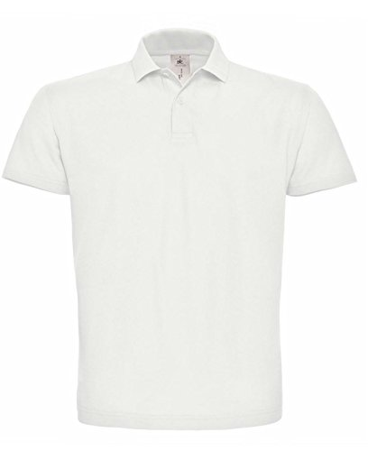 B&C - Polo - - Manches courtes Homme - Blanc - Blanc - Large