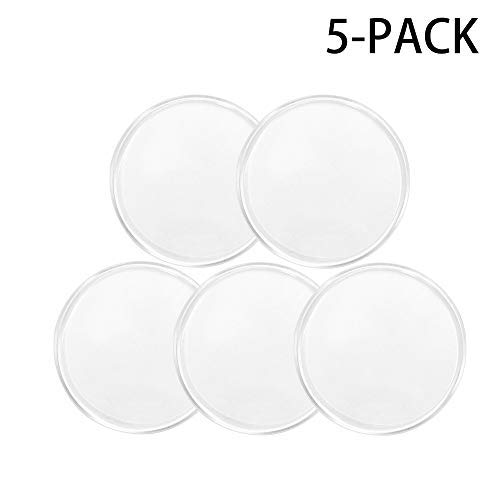 Removable Fixate Sticky Gel Pads by Pure and Merit [5pc, Clear] Washable and Reusable Anti-slip Pads