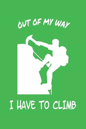 Notizbuch - Klettern und Bergsteigen: Planer |Tagebuch |Notizblock |Heft |Perfekt für Kletterer|kariertes Notizbuch mit Bergsteigermotiv |Größe 6
