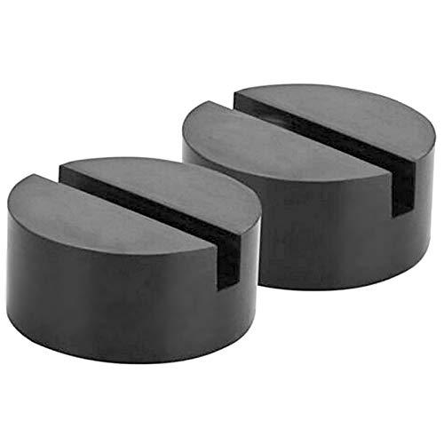 [TradeWind] 車用ジャッキパッド ジャッキゴム リフトアップゴム ブロックアダプター ゴムパッド ジャッキアップ タイヤ交換 耐摩耗 スリップ防止 黒2個セット