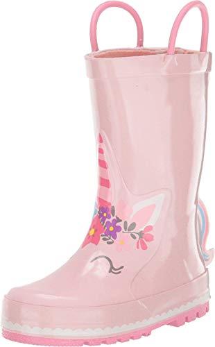 Western Chief Girls Waterproof Printed Rain Boot with Easy Pull on Handles, Unity Unicorn, 13 Little Kid